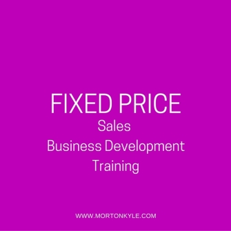 Fixed Price Sales Training - Fixed Price Business Development Training Sheffield